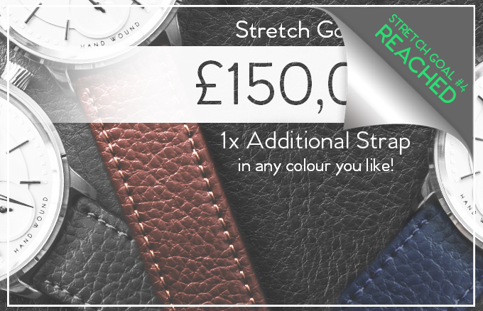 Stretch Goal #4 - £150,000 - A free additional strap with every watch.