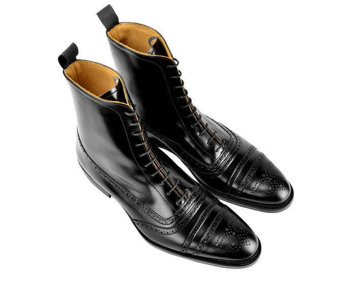 SJC Black Balmoral Boots