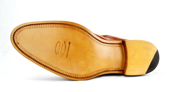 SJC Balmoral leather sole option with rubber quarter tip