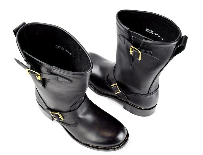 SJC Black Engineer Boots