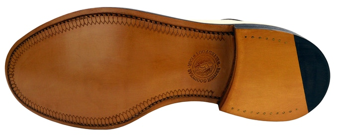 SJC Spectators leather welted sole with quarter tip