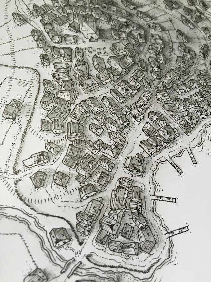 Port Greely Map by Glynn Seal