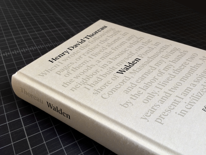 The front cover: clothbound, foil stamped, simple and sturdy.