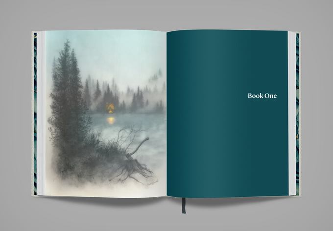 Opening spread of Book One