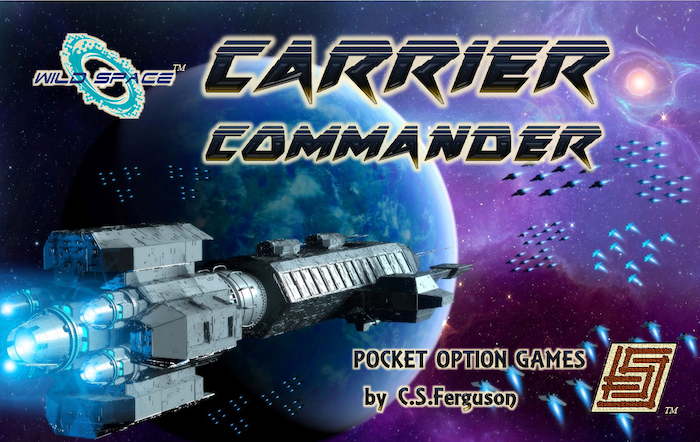 Spacecraft carriers send waves of starfighters, starbombers, and marine-laden dropships against each other. Destroy all enemy squadrons to win. Limited Kickstarter Edition includes stretch goal missions Asteroids and Trench Run!