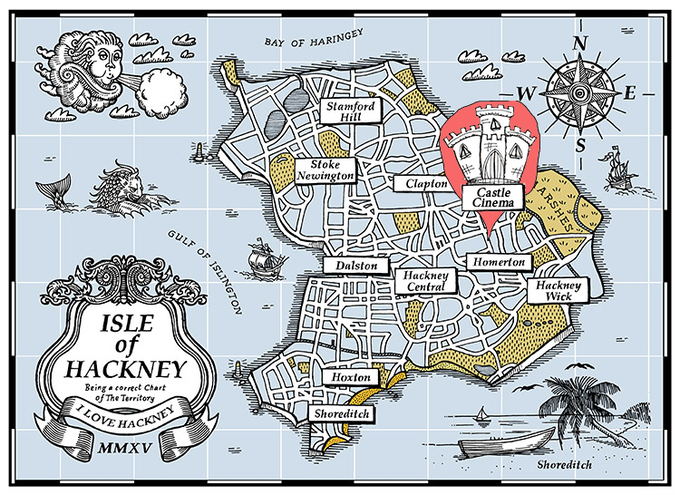Isle of Hackney map © Beyond Thrilled
