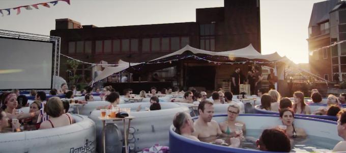 Sunset at Hot Tub Cinema