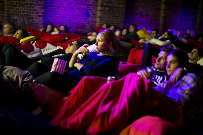 Pillow Cinema at the Shoreditch Underground