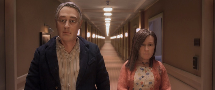David Thewlis voices Michael Stone and Jennifer Jason Leigh voices Lisa Hesselman in Anomalisa. © 2015 Paramount Pictures.  All Rights Reserved.