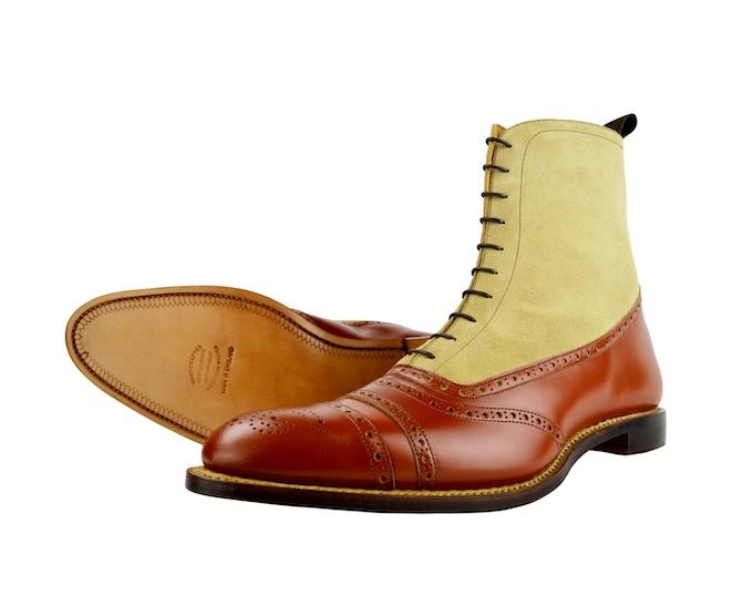 SJC Two Tone Balmoral Boot