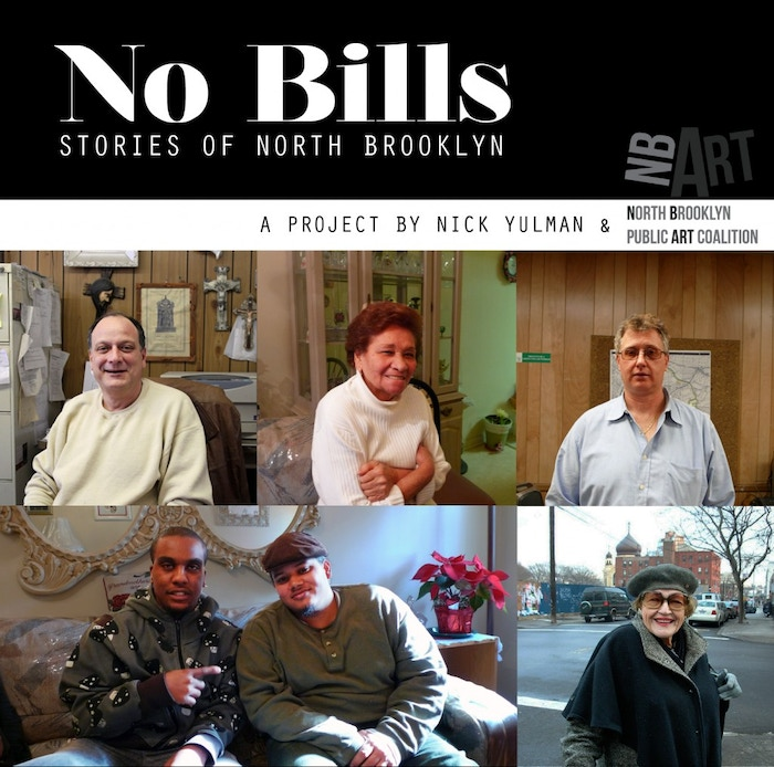 No Bills is a sound installation by artist Nick Yulman that situates oral histories in select construction fences in North Brooklyn.