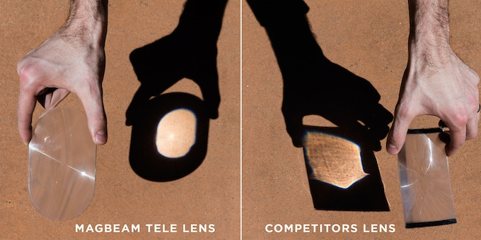 The MagBeams rigid lens focuses light better than competitors products. What this really means is cleaner, more intense light!