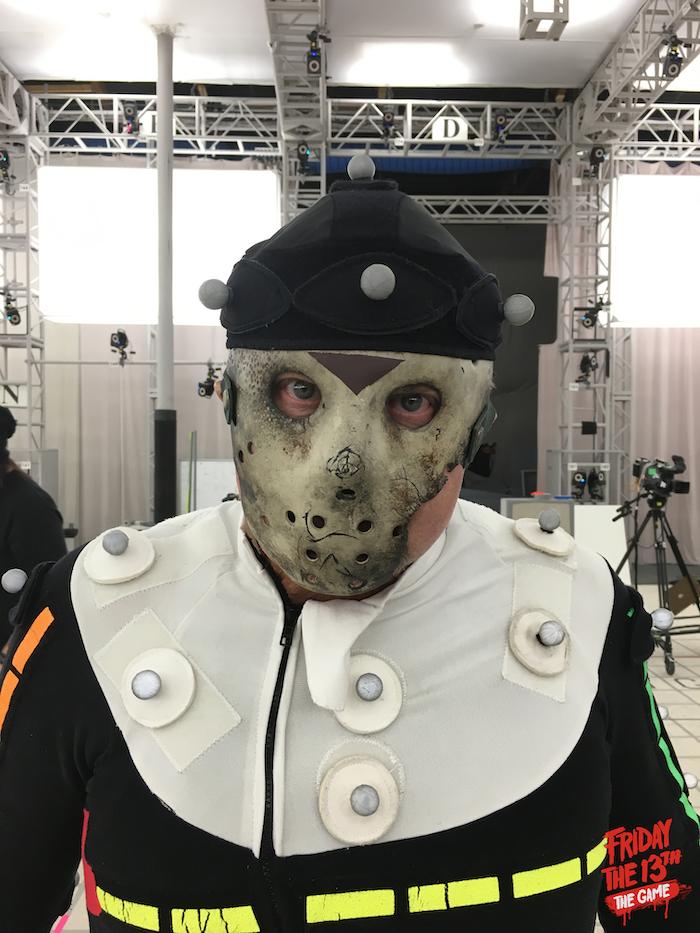 Kane even donned the mask on set!!