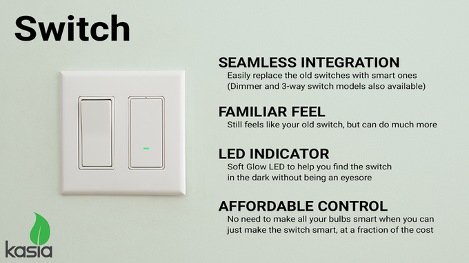 *a neutral wire (white) is required for installation of the smart switch