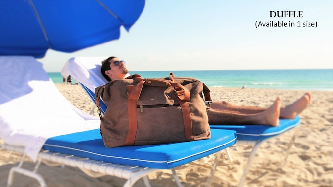 A true versatile bag, this duffle brings a fresh style to carry your beach items and also be your everyday bag / gym bag.