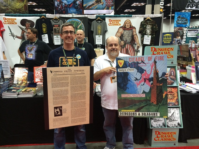 Joseph Goodman and Bob Bledsaw, Jr. announce the project at Gen Con 2014