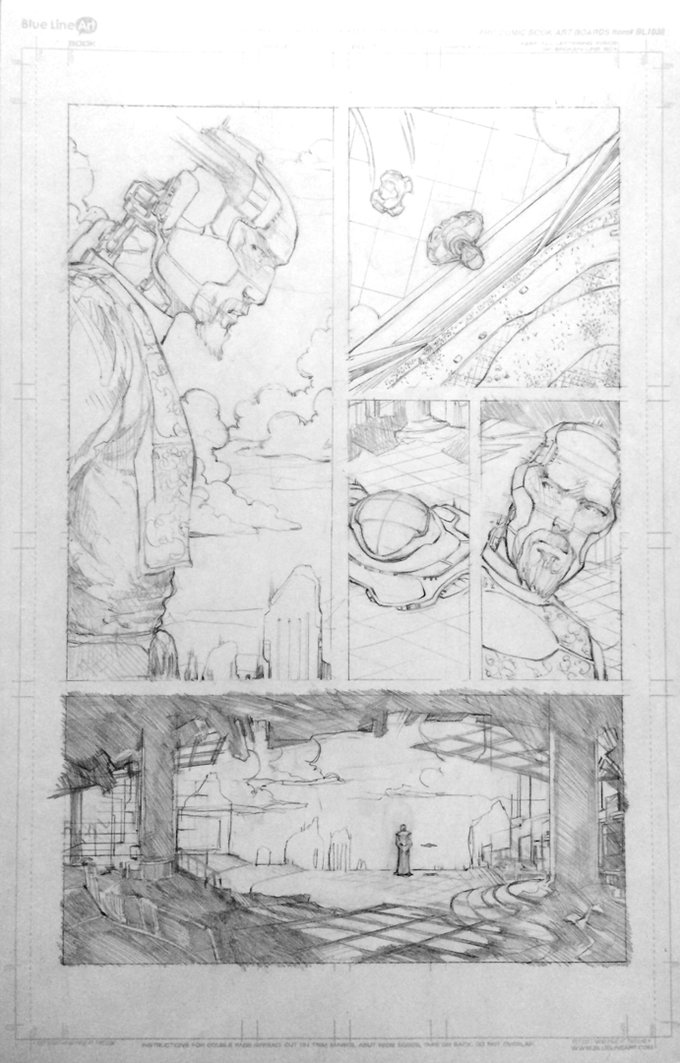 Original Pencil Artwork from The Silence #1