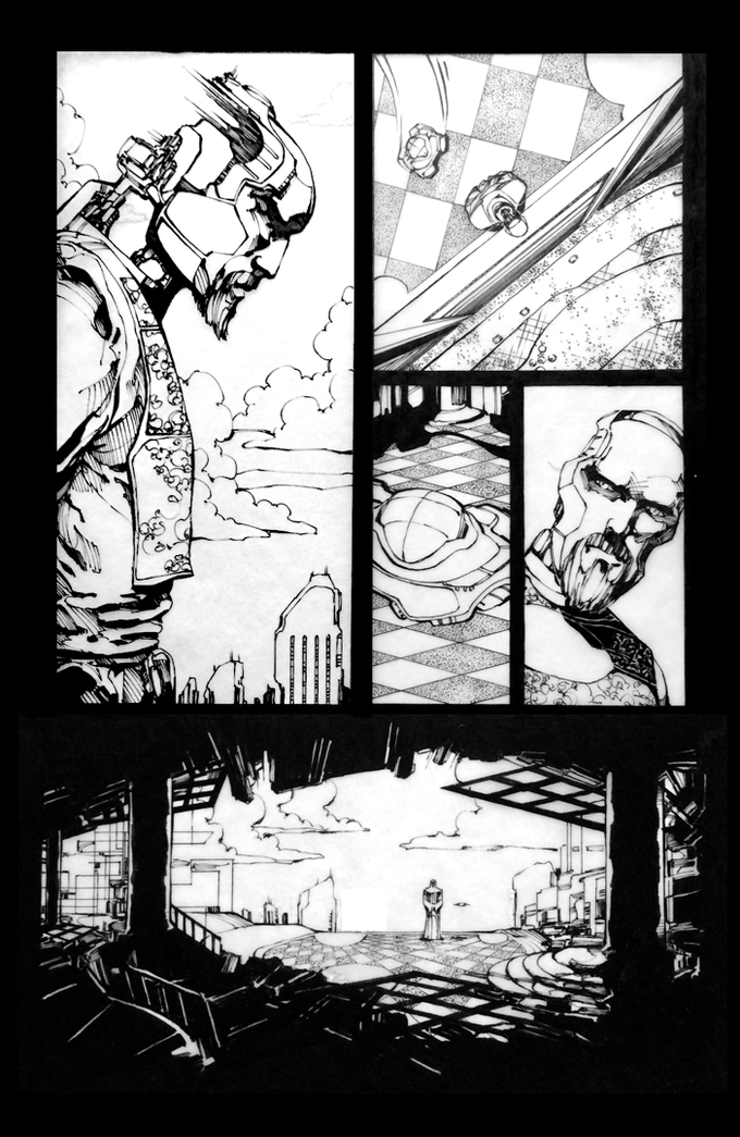 Original Ink Artwork from The Silence #1