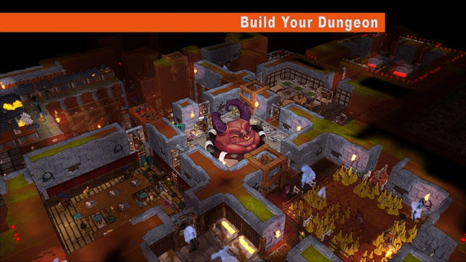 Build a dungeon that makes your creatures happy and can withstand enemy attacks