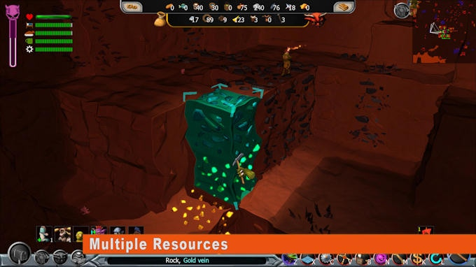Search and mine multiple types of resources which are required for the different rooms