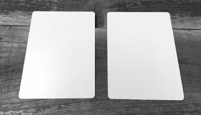 Double Back Gaff Card. The face is on the right, or is it the left?
