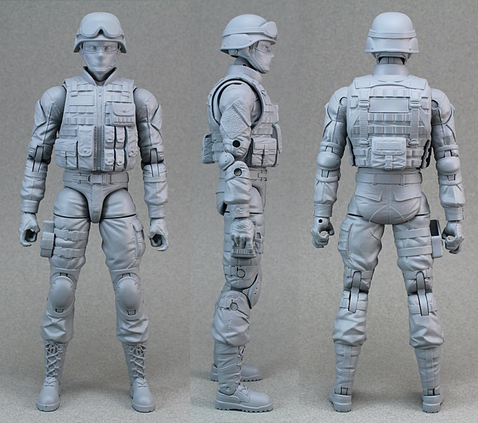 Updated sculpt that all the Soldier and SWAT figures will be made with