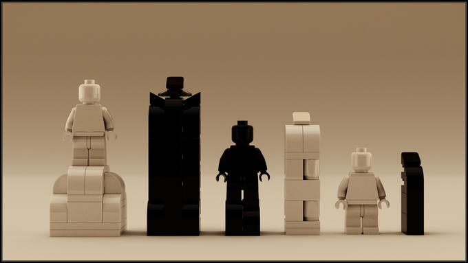 Each king piece can perfectly accommodate your favorite minifigure.