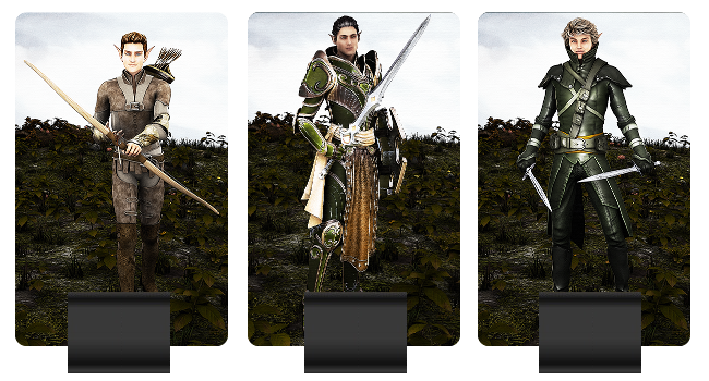 Elven Army units pictured: Archer, Warrior, Rogue
