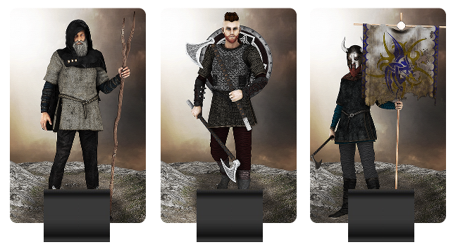 Viking Army units pictured: Oracle, Warrior, Bannerman