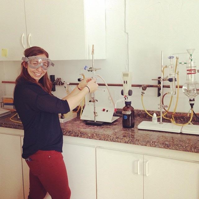 Working on some wine chemistry in Santa Cruz, CA