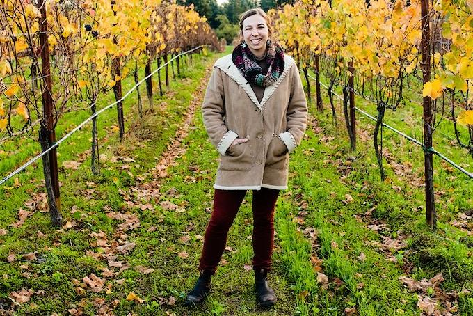 Walking the vineyards in the Santa Cruz Mountains