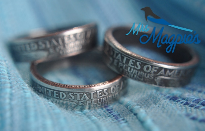 Unique Hand Made Coin Rings For Men Or Women By Mrs