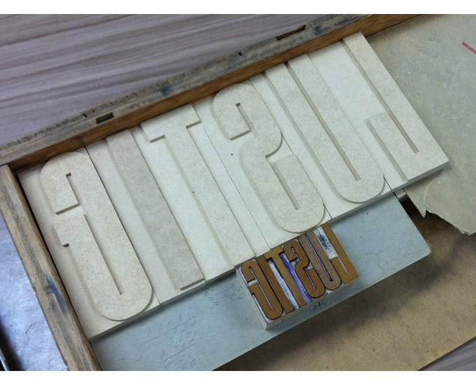 Prototype Lustig Elements patterns and wood type (November, 2015)