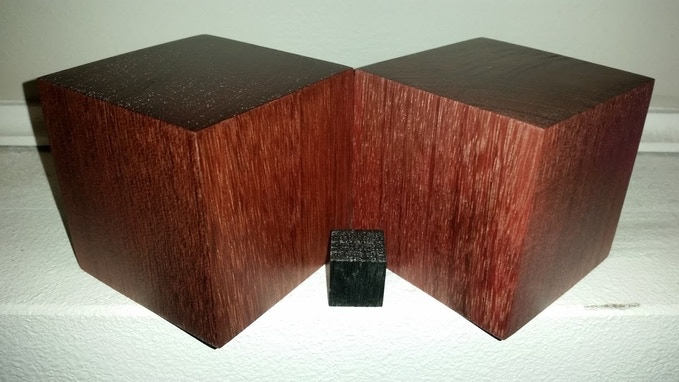 Goliath 3 inch cube and a 3/4 inch cube
