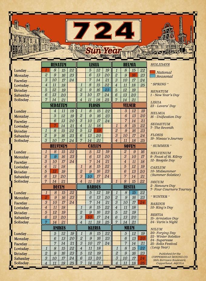 The Aquilan Calendar by Alex Bucur.
