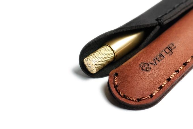 Minimalistic pen sleeve.