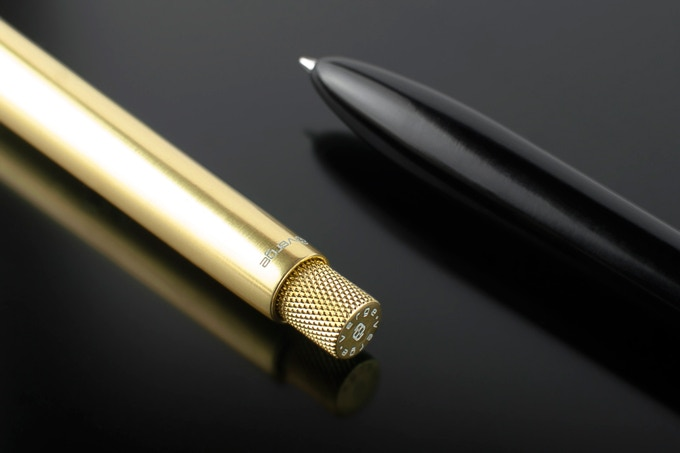Gold and black Sens pens.