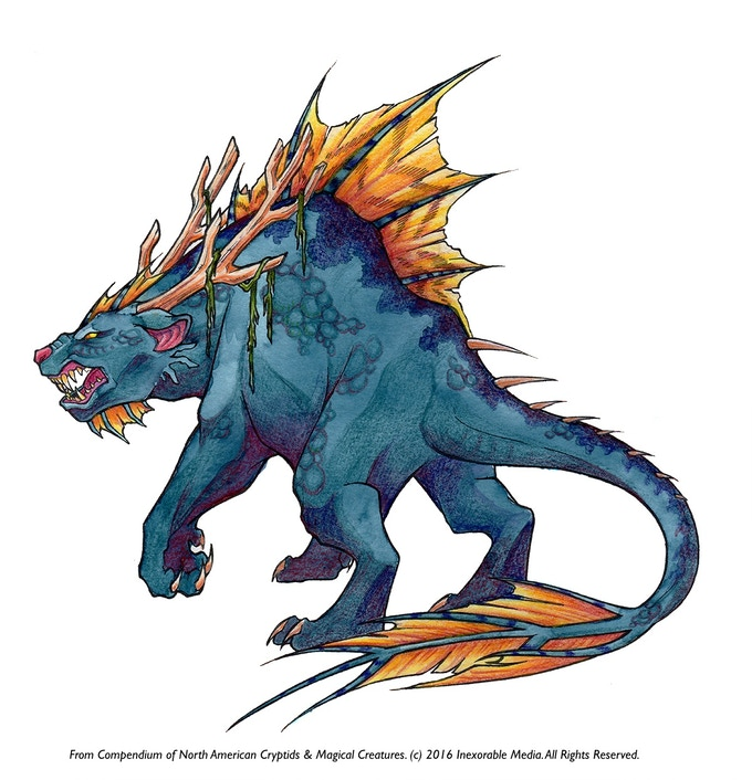 Mishipeshu (Water Panther) Sample of the Color Art