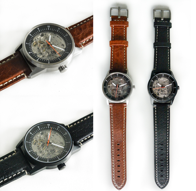 Brown or Black Leather Strap add $40