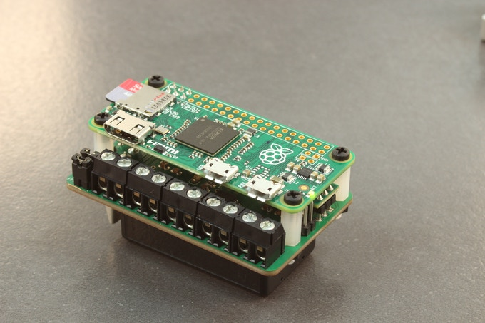 The ZeroBorg with a Pi Zero and battery