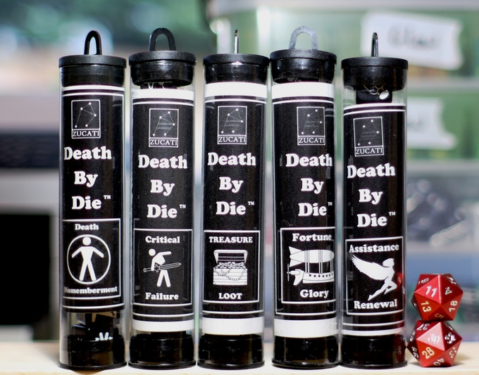 Death by Die™ Master Set of 42 - The Front