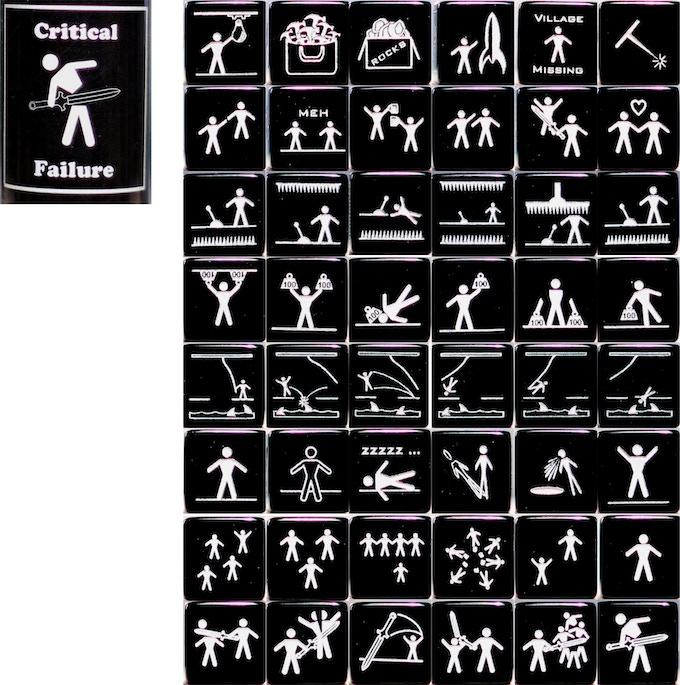 Alll Critical Fail Faces (Shown in Black)