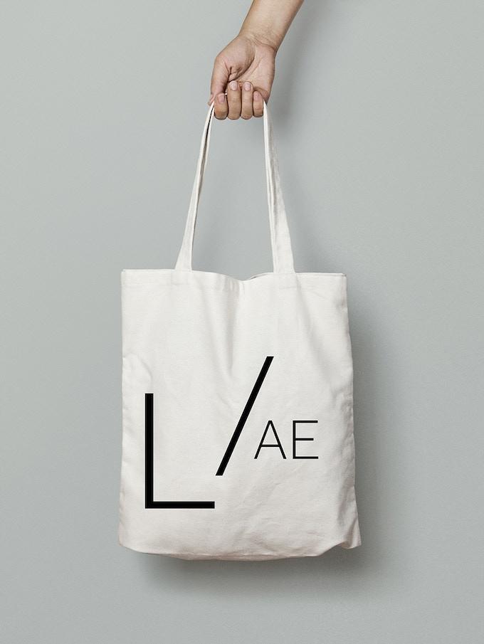 LACUNA/AE cotton shopping bag