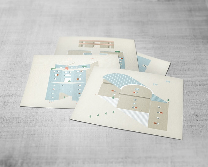 Sara Polo postcards creative illustrations