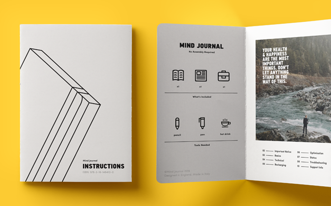 Mind Journal: A Groundbreaking New Journal For Guys by Ollie