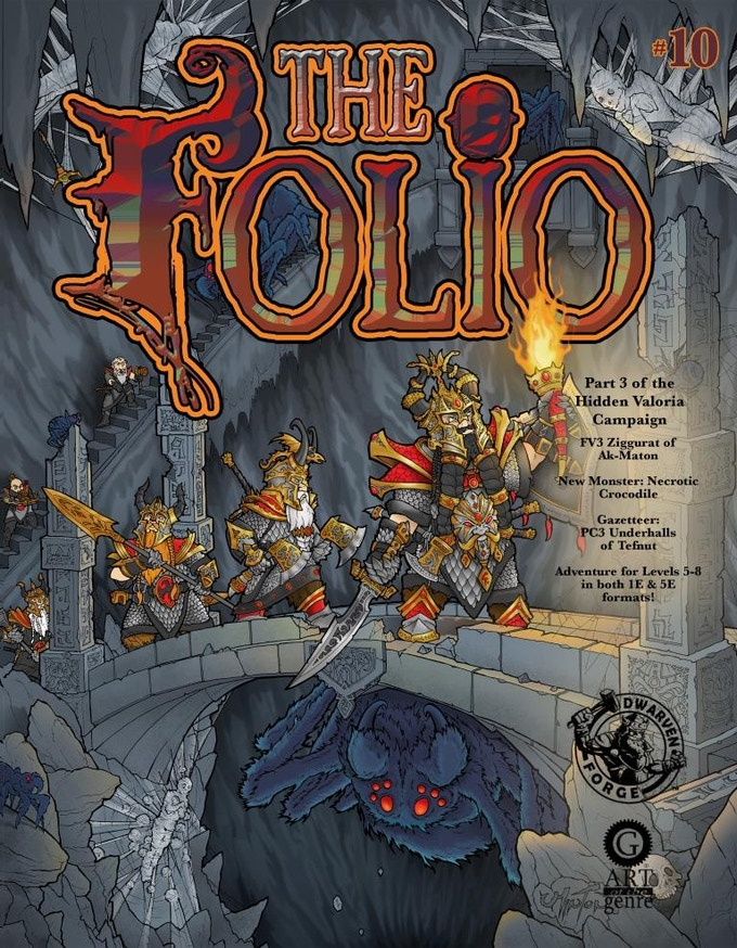 Artist Chet Minton rounds out the trilogy with Folio #10.