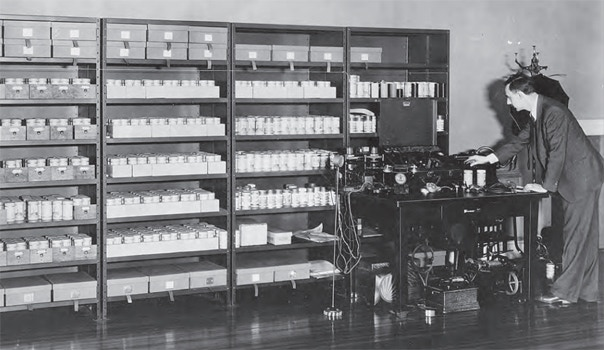 Robert Winslow Gordon, recording equipment and wax cylinders (photo from American Folklife Center)