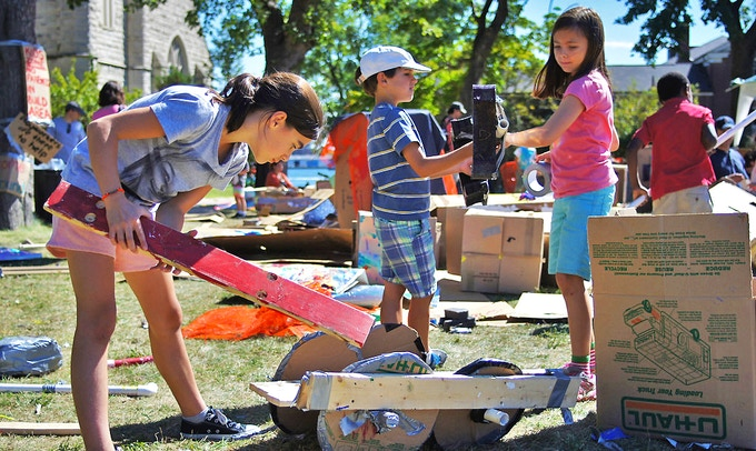 "Elaborate constructions at Governors Island ""play:ground in the park"" event, September 2015"