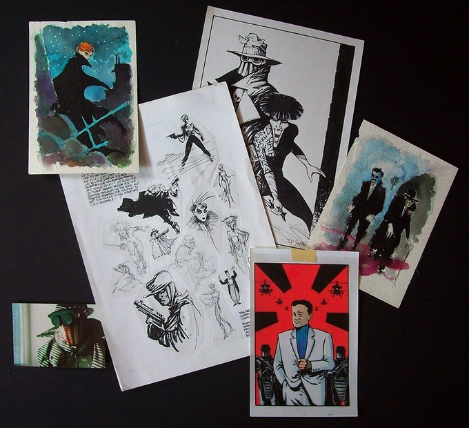 Concept art and unreleased artwork that will be included in the collected edition