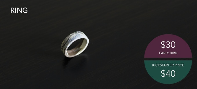 A unique, handmade ring. Ring sizes 5-14 available.